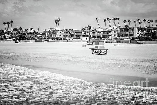 Paul Velgos - Seal Beach California Black and White Picture