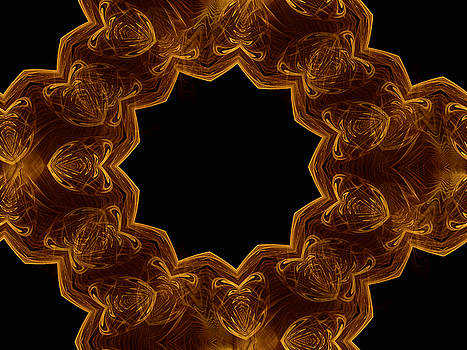 Seamless Kaleidoscope Gold by Ernst Dittmar