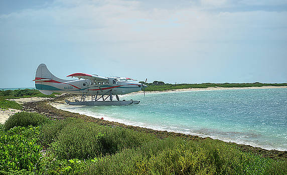 Seaplane on Dry Tortugas by Timothy Lowry