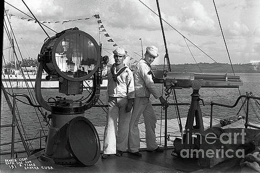 California Views Mr Pat Hathaway Archives - Search Light, and Rapid Fire Gun, on the battleship ,USS Texas, Havana Cuba, 1898