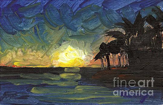 Seascape 18 by Helena M Langley