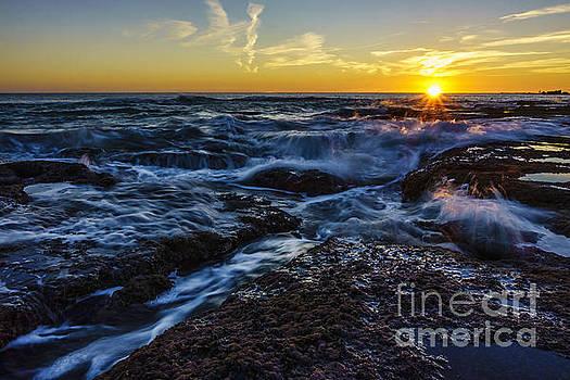 Seascape at Sunset Cadiz Spain by Pablo Avanzini