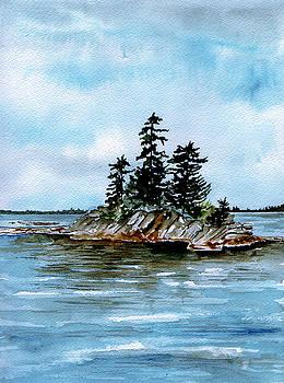 Seascape Casco Bay Maine by Brenda Owen