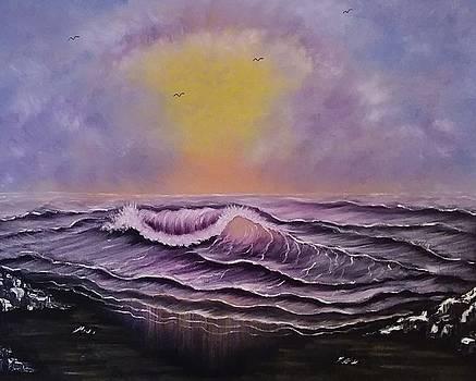 Seascape enchantment glow by Angela Whitehouse