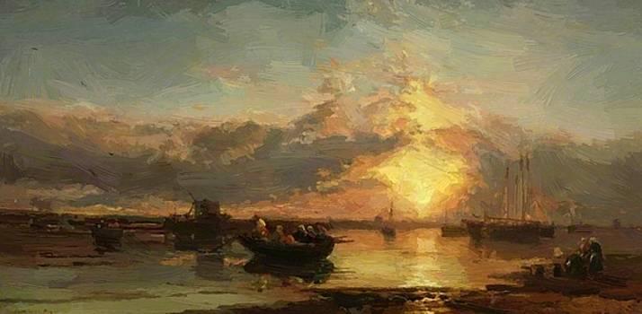 Webb James - Seascape Sunset 1886