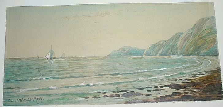 Seascape with Sailboats by Edmund Darch Lewis
