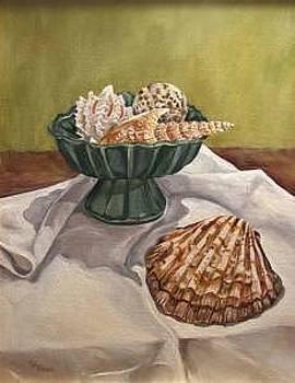Seashells And Shadows by Cheryl Pass