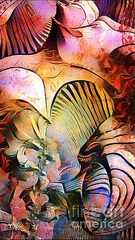 Seashells in Abstract by JD Poplin