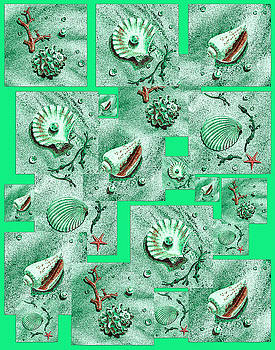 Irina Sztukowski - Seashells On Green