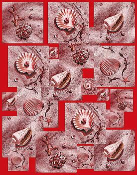 Irina Sztukowski - Seashells On Red