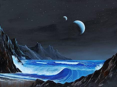 Seashore on an Exomoon by Suresh Chakravarthy