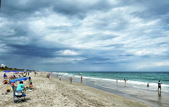 Seashore with Clouds by Allan Einhorn