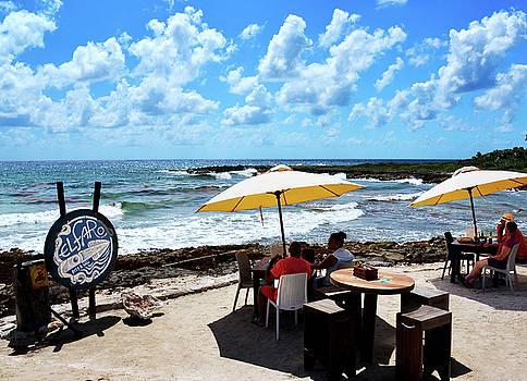 Seaside Cafe Cozumel by Allan Einhorn