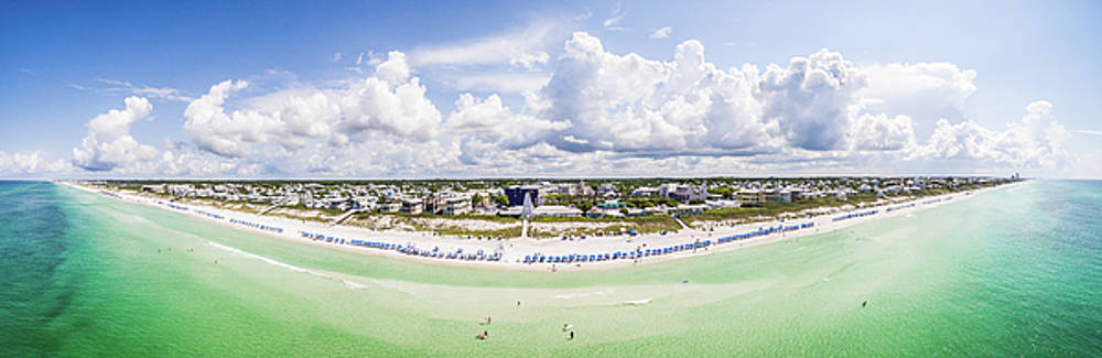 Seaside Florida Gulf Aerial by Kurt Lischka