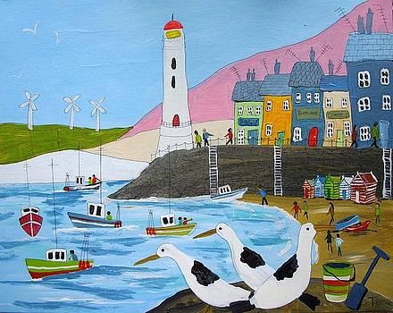 Seaside Lighthouse by Trudy Kepke