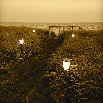 Seaside Path in Sepia by Richard Hinds