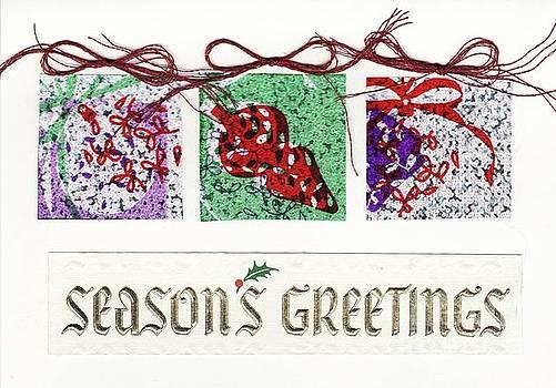 Season's Greetings card by Susan Minier