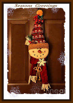 Sandra Huston - Seasons Greetings Door Snowman