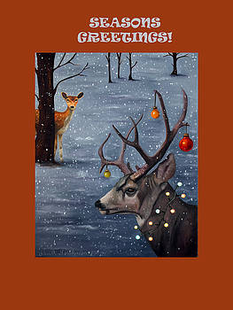 Leah Saulnier The Painting Maniac - Seasons Greetings with Seduction