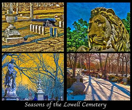 Seasons of the Lowell Cemetery by Michael DelaVega