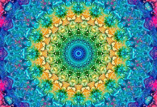 Seasons Summer Mandala by Lynne Guimond Sabean