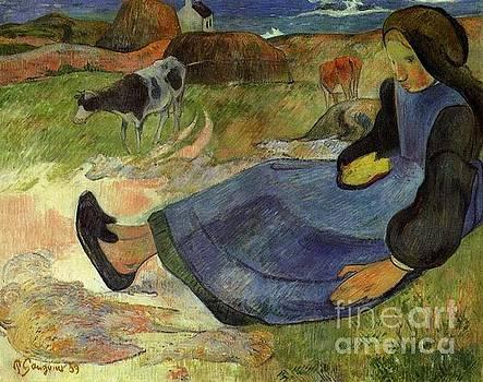 Gauguin - Seated Breton Girl