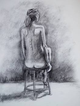 Seated Female Figure by Trace Meek
