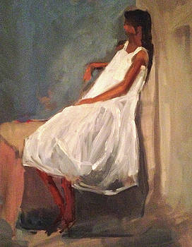 Seated Girl by Donna Thomas