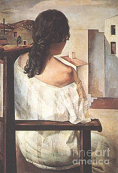 Dali - Seated Girl Seen From The Back
