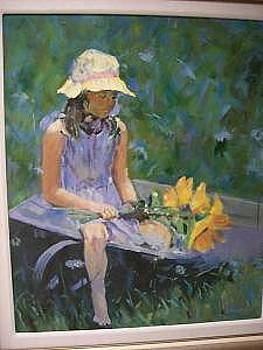 Seated Girl With Flower by Perry  Rubenstein