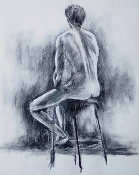 Seated Male Figure by Trace Meek