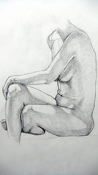 Seated Male II by Neil Grotzinger