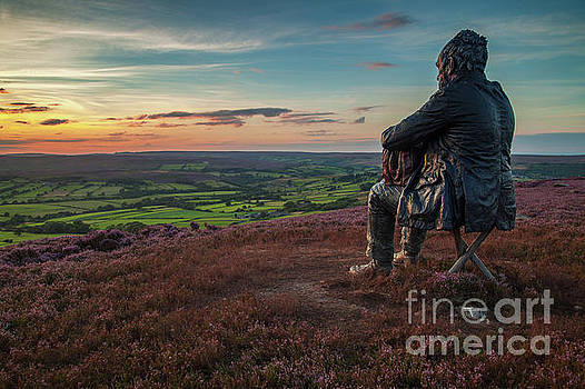 Seated Man, North York Moors by Martin Williams