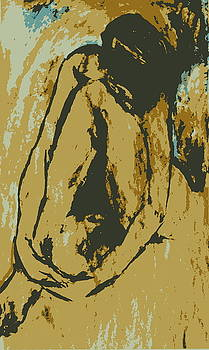 Seated nude  by Patrick Mills
