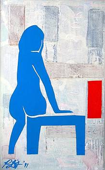 Seated Nude by Paul Bokvel Smit