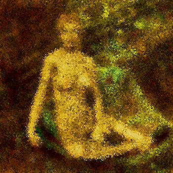Seated Nude Study by Mark James Perry