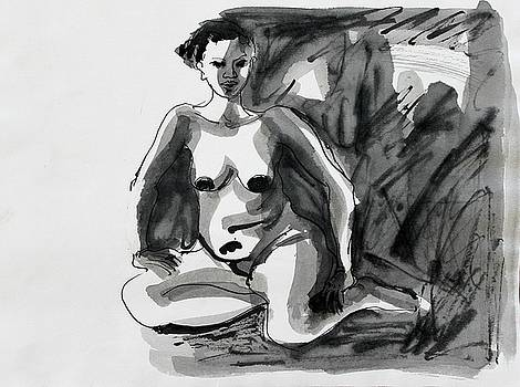 Seated Woman with Bent Legs by Amela Subasic