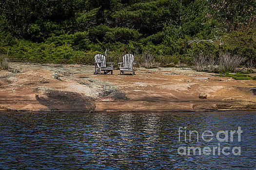 Seating for two by Marj Dubeau