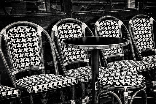 Seats at a Paris Cafe by Andrew Soundarajan