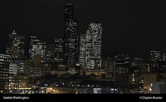 Clayton Bruster - Seattle At Night