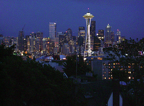 Seattle at Night by Edward Coumou