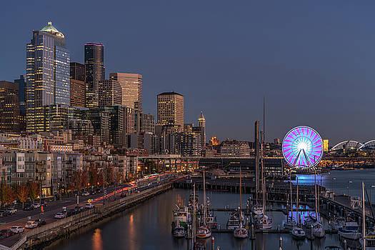 Seattle Autumn Nights by Ken Stanback