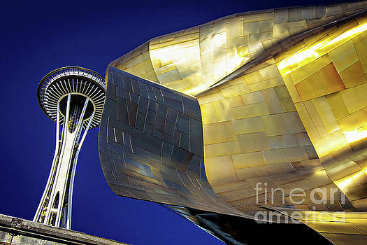 Seattle Center Needle and Museum by Joan McCool