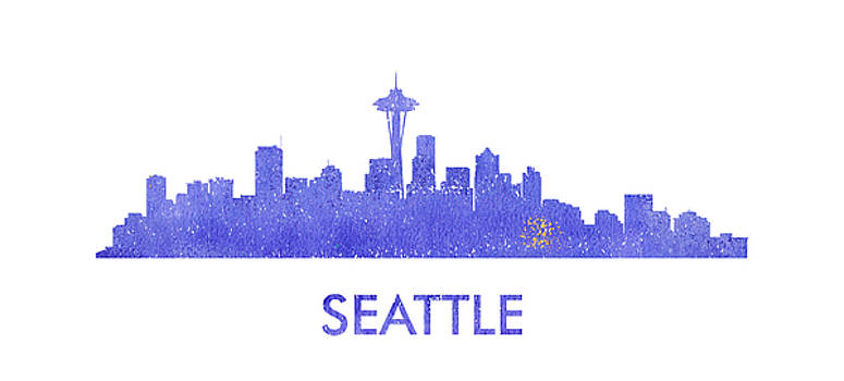 Vyacheslav Isaev - Seattle  city purple skyline