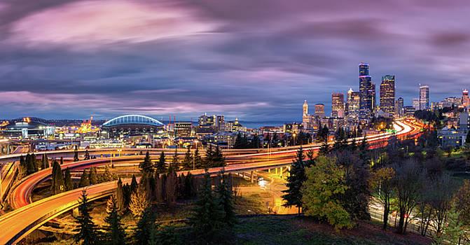Seattle Cityscape by Mihai Andritoiu