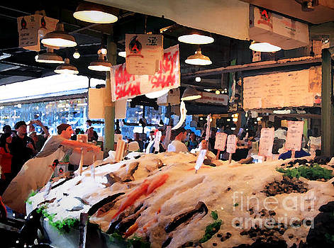 Seattle Fish Throw Pike St Market by Peter Simmons