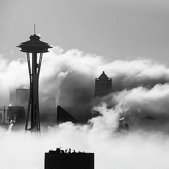 Seattle Fog Square by Kyle Wasielewski