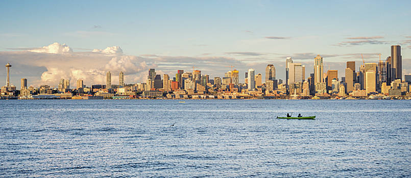 Seattle Skyline 2 by Lindy Grasser