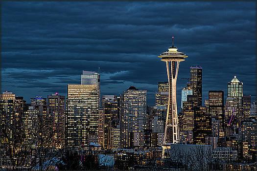Erika Fawcett - Seattle Skyline Blue Hour