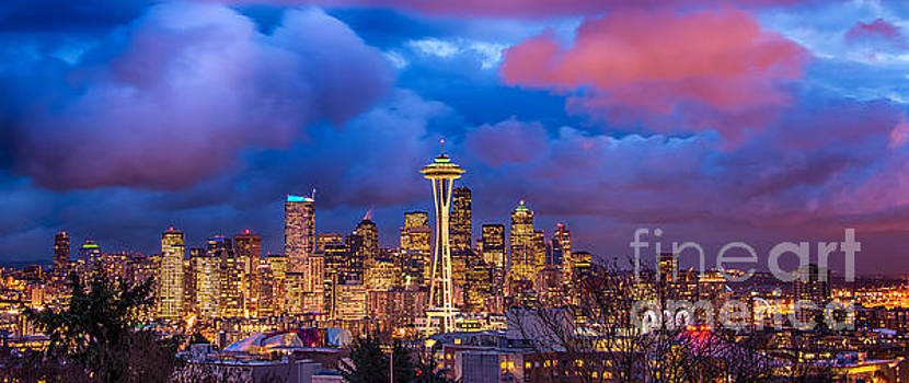 Seattle Skyline by Jennifer Magallon